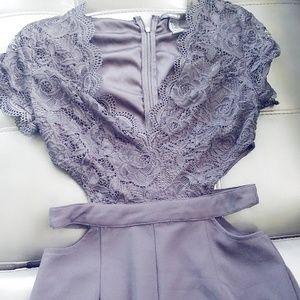 Lace Jumpsuit open sides